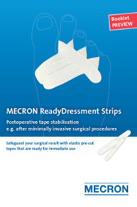 Postoperative tape stabilisation, e.g. after minimally invasive surgical procedures