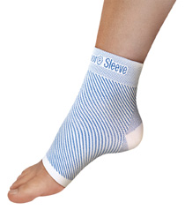 Compression sock, Sleeve for foot designed for plantar fasciitis, heel spurs, ankle contracture, arch pain or weakness and edema