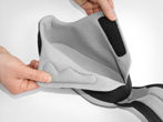 Removable insoles plus ample space to accommodate individual needs