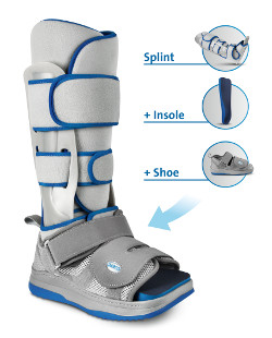 Walker Lower Leg/Foot Orthosis. Immobilisation of the foot with simultaneous mobilisation of the patient