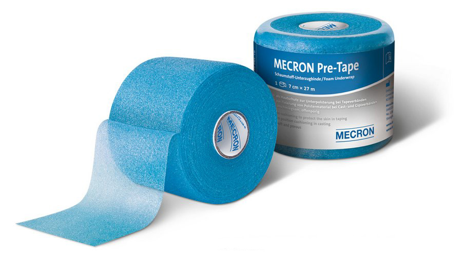Mecron Pre Tape Foam Underwrap As Cushioning To Protect