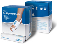 TAS Toe Alignment Splint. Bandage for alignment after hallux valgus surgery