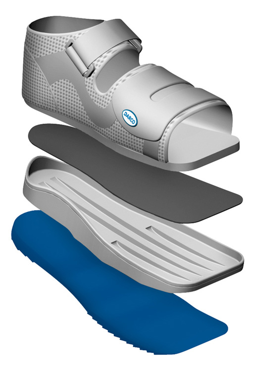 improved shock absorption particularly in the heel and ball area - Relief Dual Off-loading Shoe