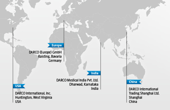 DARCO Worldwide: USA, Europe, China, India