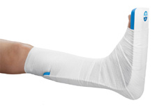 Foot, Backing splint: Postoperative positioning, Preoperative support, Immobilisation after an accident, Post-traumatic immobilisation
