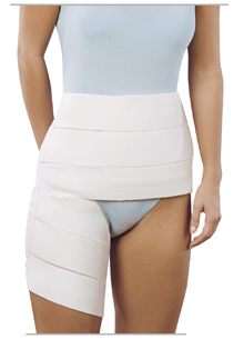 Hip Spica Bandage. Stabilization of the hip joint following total hip replacement, etc.