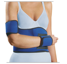 Shoulder Bandage Post-operative / post-traumatic. Immobilization with MECRON Shoulder Neopren for Injured head of humerus / proximal humerus, e.g.